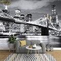 Beibehang foto papel de parede brooklyn ponte nova iorque designer mural da parede vinil adesivo 3d