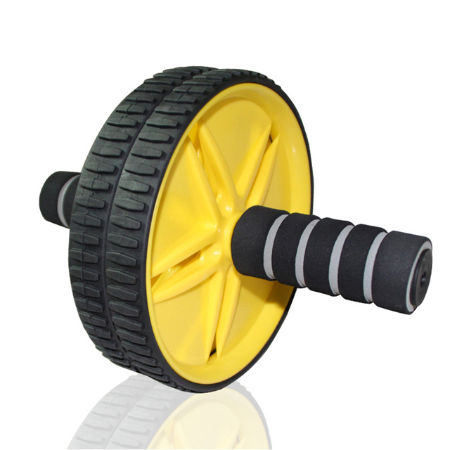 PENGROAD Double-wheeled Updated Ab Abdominal Press Wheel Rollers Crossfit Exercise Equipment for Body Building Fitness Home Gym
