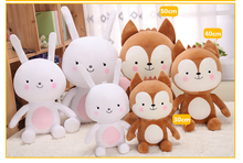 30cm11.8″ Plush Cartoon Cute Baby Kid Animal Calm Rabbit Fox Sleeping Hold Pillow Comfort Doll Plush Toy Girl Kid Christmas Gift