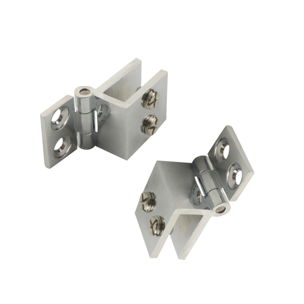 4pcs adjustable 0 degree cabinet glass door hinge wall to glass door clip hinges fit for