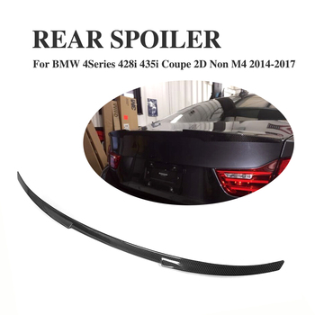 Carbon Fiber Rear Trunk Boot Spoiler Wing Lip for BMW 4 Series 428i 435i Coupe 2Door Non M4 2014-2017 Car Tuning Parts image