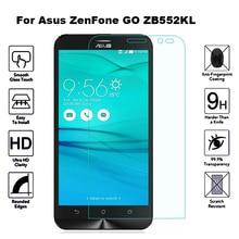 2 шт закаленное стекло для Asus ZenFone GO ZB552KL защита экрана Flim 9H Защитное стекло для Asus X007D ZB ZB552 552 552KL KL