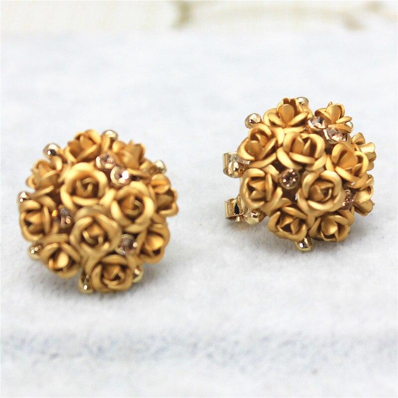 2016 new design fashion brand jewelry rose flower Summer style ...