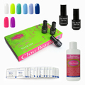 Clou Beaute 8 Colors SONP-016 Remover Wraps Cleanser Plus Top Base Coat Nail Gel UV Nail Lamp Soak Off UV Gel Polish Set