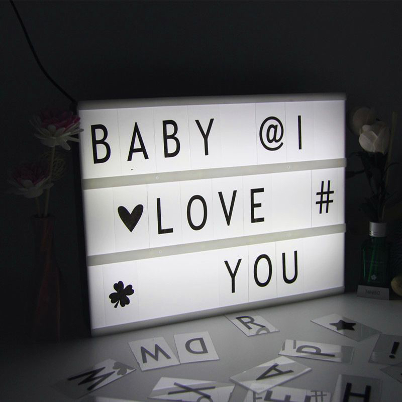 Merry Christmas Words Decoration LED Alphabet Lightbox Letter Light With Changeable In LED Night