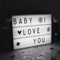 Parole Di buon Natale Decorazione LED Lightbox Alfabeto Lettera Luce con Variabile