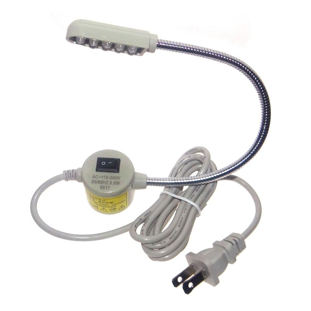 Светодиодный лампы швейная лампа на гибкой ножке магнитное крепление, бежевого и белого цветов инструменты регулируемый - Испускаемый цвет: US plug
