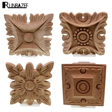 Decorative Wooden Mouldings. RUNBAZEF Flower Carving Natural Wood Appliques For Furniture Cabinet  Unpainted Wooden Mouldings Decal Decorative Figurines Buy decorative wood moulding and get free shipping on AliExpress com