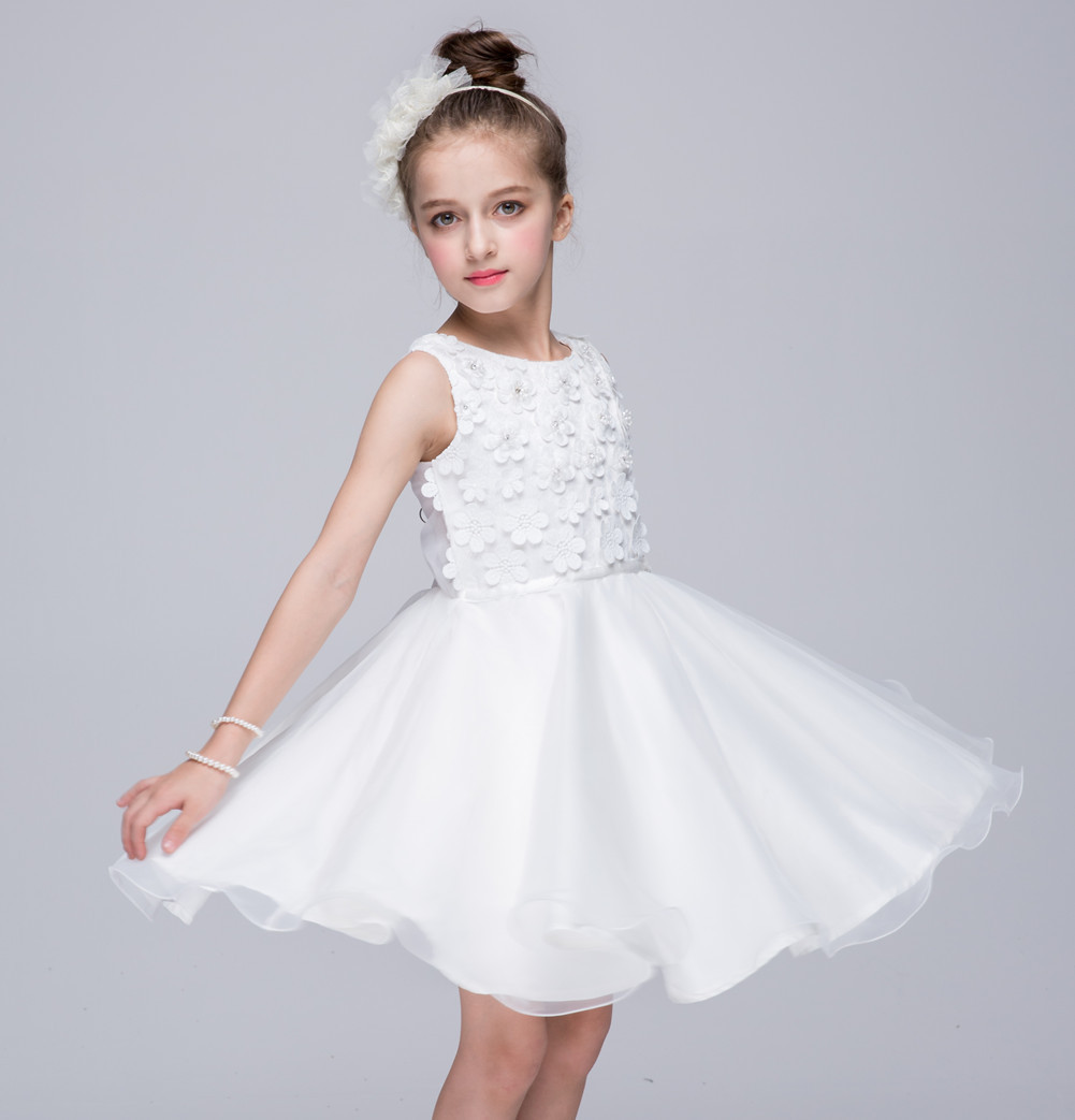 Children\'s performance dress girl sweet Princess Wedding Dress 2 to ...