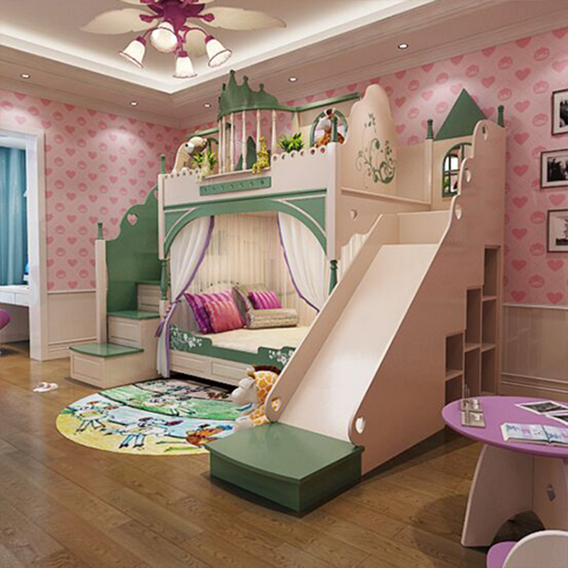 American Children's Bed Creative Children's Castle Bed Princess Castle Bed From China