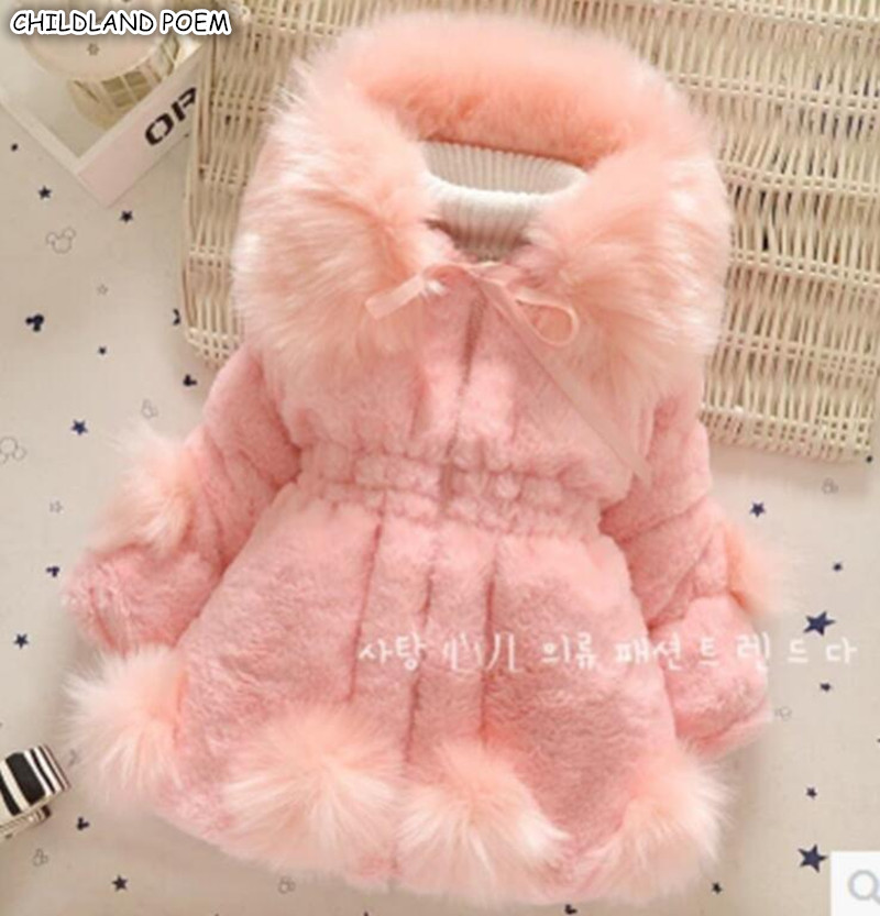 Baby Girls Jacket And Coat Winter Toddler Girls Outerwear Clothes Thicken Faux Fur Kids Girls Winter Coat Clothes Girl Snowsuit цены