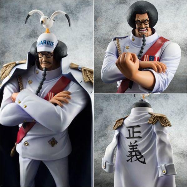 Figurines une pièce Anime Vice-amiral Luffy grand-père singe D Garp et Sengoku maréchal PVC figurine d'action Collection jouets