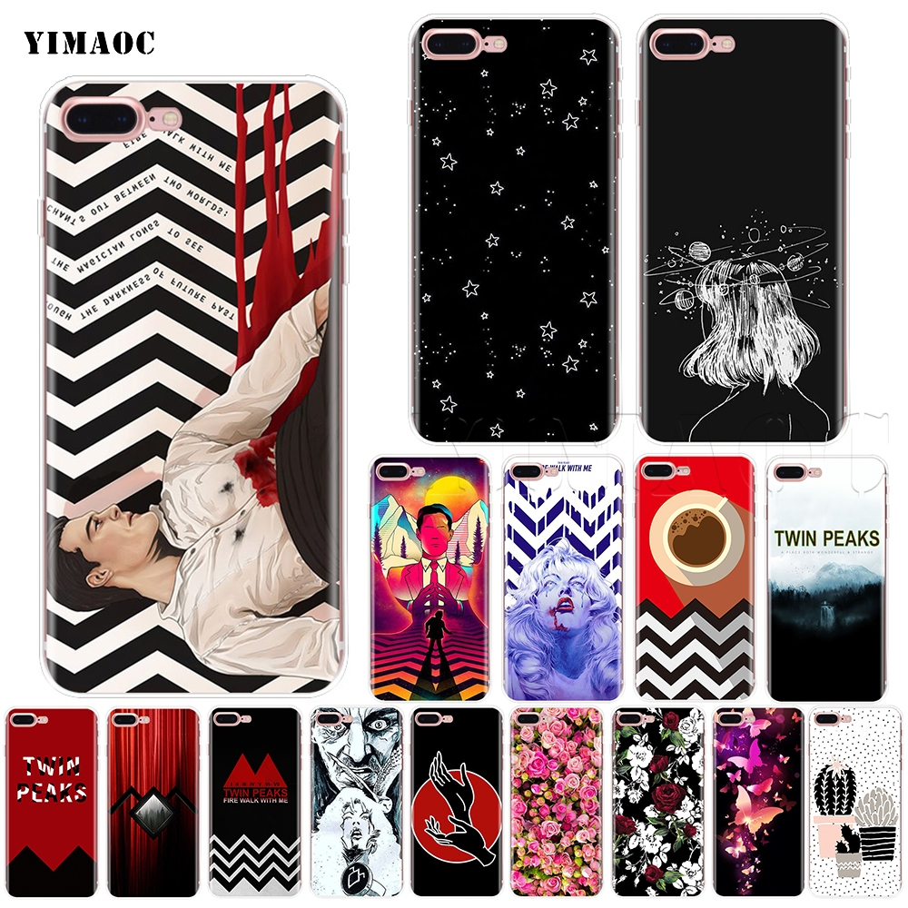 YIMAOC Twin Peaks Fire Walk with Me Soft Silicone Case for iPhone XS Max XR X 8 7 6 6S Plus 5 5s se