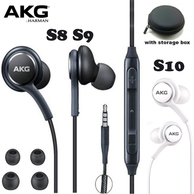 AKG Earphones Black  EO-IG955 3.5mm In-ear With Microphone Wire Headset For Samsung Galaxy S8 S9 S10 Eraphone S7 S6 FOR XIAOMI