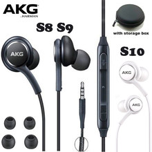 AKG Earphones Black EO-IG955 3.5mm In-ear with Microphone Wire Headset for Samsung Galaxy S8 S9 s10 eraphone S7 S6 FOR XIAOMI(China)