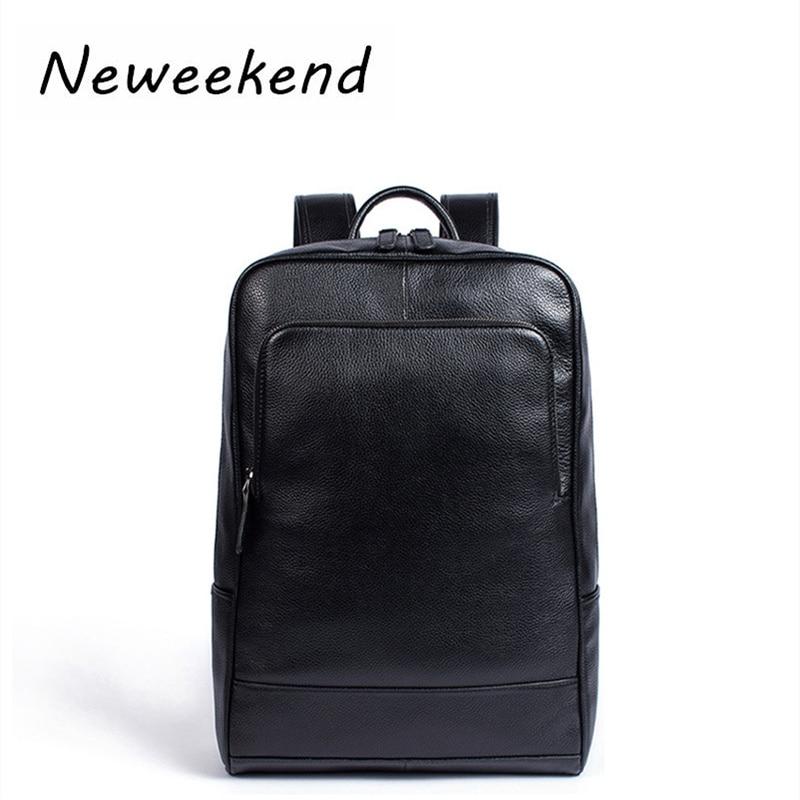 Business Genuine Leather Backpack Large Capacity Men Bag Luxury Black Laptop Bag Casual Travel Bag For Male Shoulder Bag MLT8110