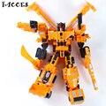 Big Size 42 CM Tamanho Big Boy Construções de Deformação Robô Modelo Figuras de Ação Brinquedos Clássico Anime Presente veículo de Engenharia