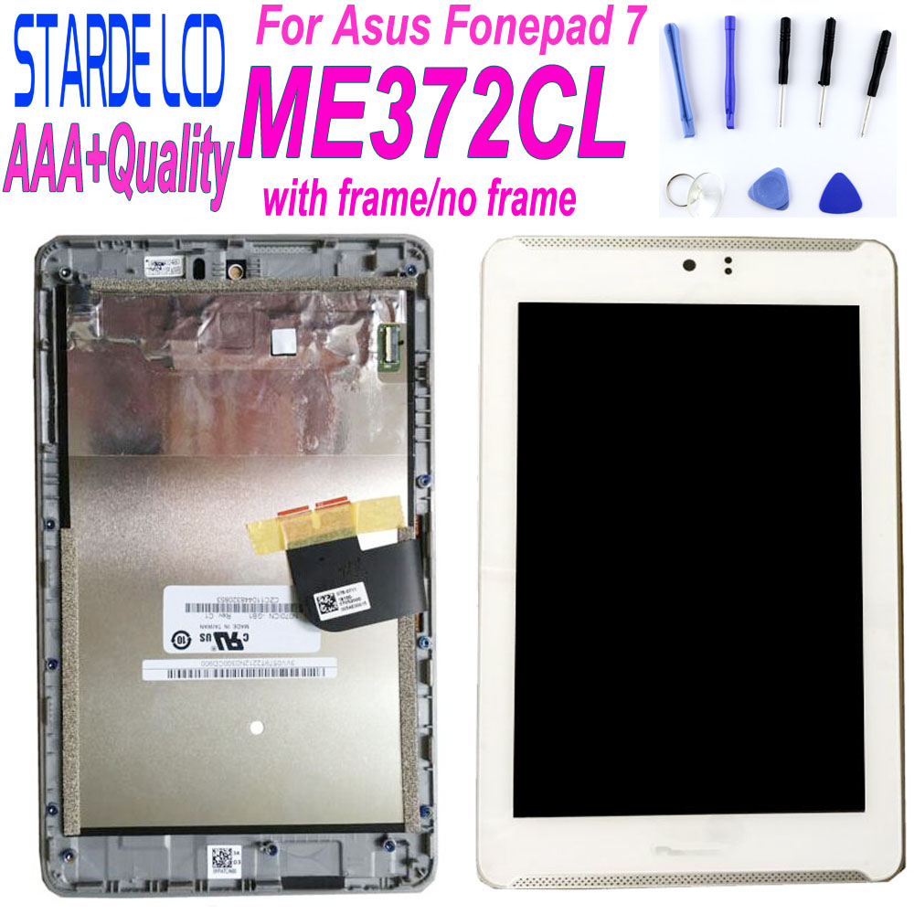 STARDE 7'' LCD for <font><b>Asus</b></font> Fonepad 7 <font><b>K00E</b></font> ME372CG K00Y ME372CL ME372 LCD Display Touch Screen Digitizer Assembly with Frame image