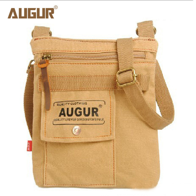 7e2512b52d AUGUR Casual Canvas Shoulder Bags Chest Pack Bag For Men Work Sling Male  Travel Crossbody Bag
