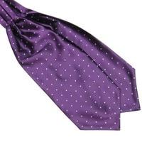 Men Polka Dot Long Silk Ties  Cravat Ascot Handkerchief Gentlemen FOR Drop Shipping 3