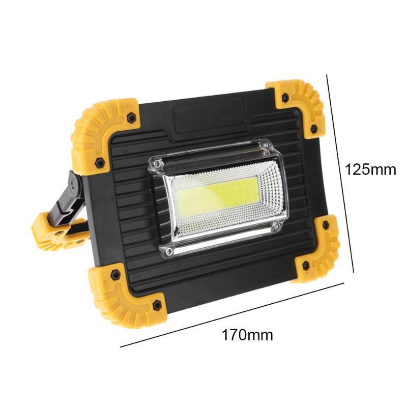 Перезаряжаемые 50 Вт 2400LM светодиодный US прожектор, точечный светильник, Портативный прожектор Водонепроницаемый IP65 50 Вт 2400LM 36 светодиодный 3-режимный напольный светильник - Испускаемый цвет: Зеленый