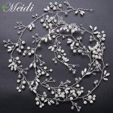 hot deal buy meidi wedding flower vine tiara bride head chain bridal bride hair ornaments wedding hair jewelry accessories tiara de novia