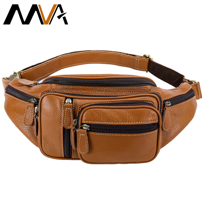 Men Male Casual Functional Fanny Bag Waist Bag Travel Money Phone Belt Leg Bags Genuine leather