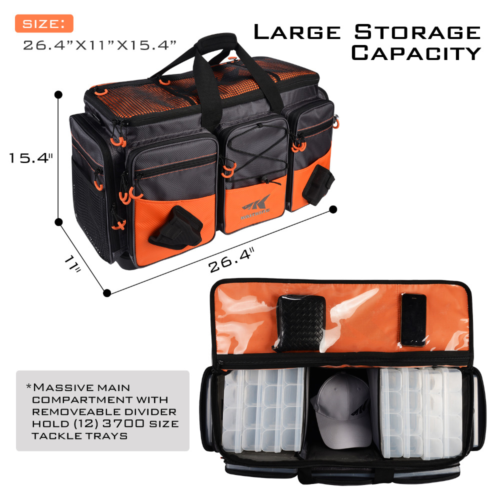 Us 109 02 55 Off Kastking Fishing Bag Large Capacity Multifunctional Lure Hawg Tackle Outdoor Pick Up Bo Plier Storage In