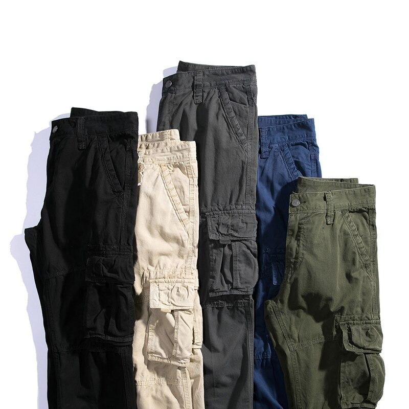 Para Calidad Black De Hombres F37 Pantalones Bolsillos Más Tamaño blue green Flojo khaki Alta 2018 Ocasional Los gray El Monos Largo Militar Multi Cargo qIHdO