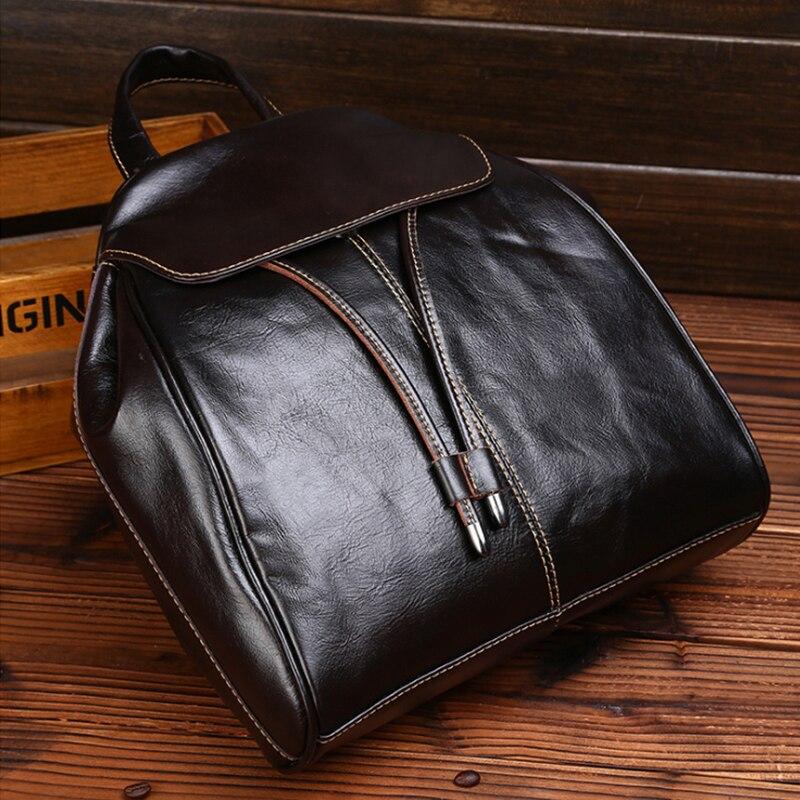 2018 Fashion Genuine Leather Women Backpack High Quality Ladies Backpack Teenage Girls School Bag Famous Brand