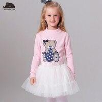 Girls Dress Clothes Sweaters Cotton Cartoon Diamonds Pullover Autumn Winter Full Basic T Shirts Tees Tops
