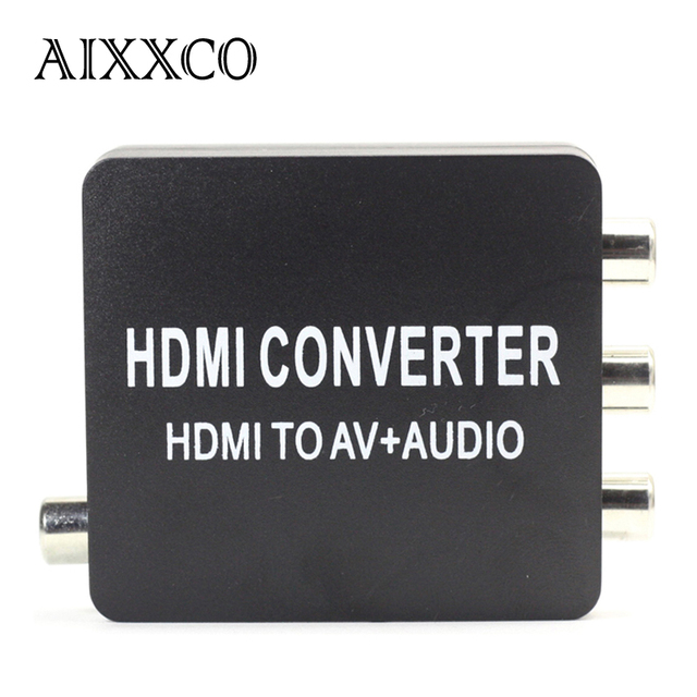 AIXXCO HDMI2AV Converter HDMI to AV + Audio Converter Support SPDIF Coaxial Audio NTSC PAL Composite Video HDMI TO 3RCA Adapter