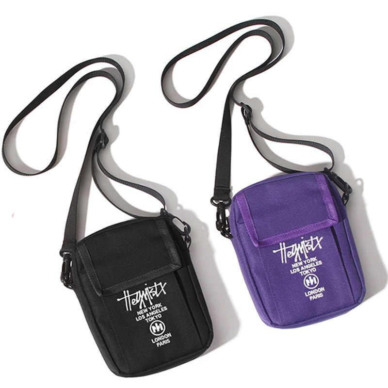 Mannen Sling Bag Mini Crossbody Tas Mode Telefoon Purse Borst Schoudertassen Jongen Canvas Messenger 030261