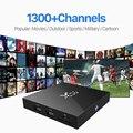 Árabe Francês Itália Alemanha Holanda Europa Livre 1300 Canais de IPTV QHDTV + S905X X96 Android 6.0 2G 16G Smart TV Set Top caixa