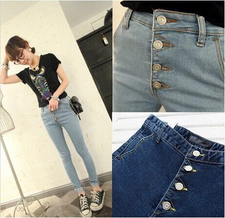 Autumn Fashion High Waist jeans 2016 New Fashion Blue Jeans Casual Slim Denim Pencil Pants Plus Size Long Trousers For Girls autumn fashion high waist jeans high