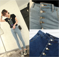 Autumn Fashion High Waist jeans 2016 New Fashion Blue Jeans Casual Slim Denim Pencil Pants Plus Size Long Trousers For Girls
