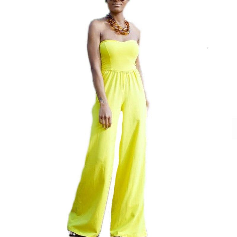 Popular Yellow Jumpsuit Women-Buy Cheap Yellow Jumpsuit Women lots ...
