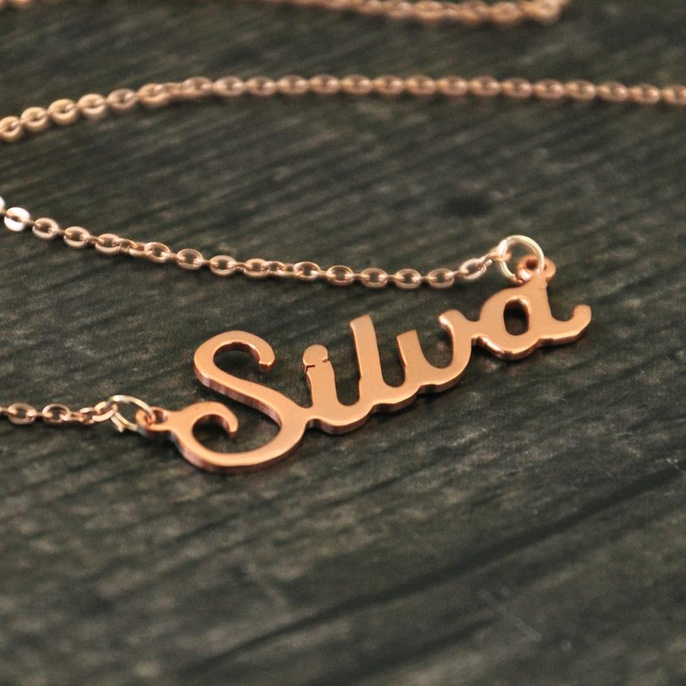 Bilo koja personalizirana ime ogrlica slitina privjesak Alison font - Modni nakit - Foto 6