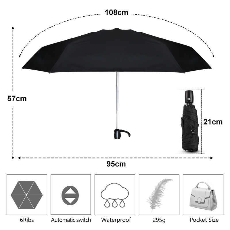 Мини-зонт для женщин, Автоматические Складные карманные зонтики для мужчин, Непродуваемые, бизнес, анти-УФ, легкие, для путешествий, от дождя, Детские Зонты