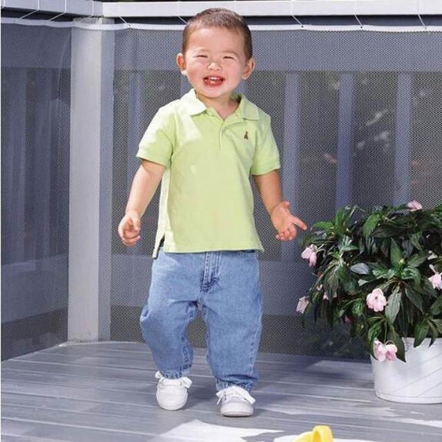 Barandilla de balcón escaleras de seguridad proteger neta valla de seguridad del bebé productos de seguridad para niños 2/3 metros de Color blanco