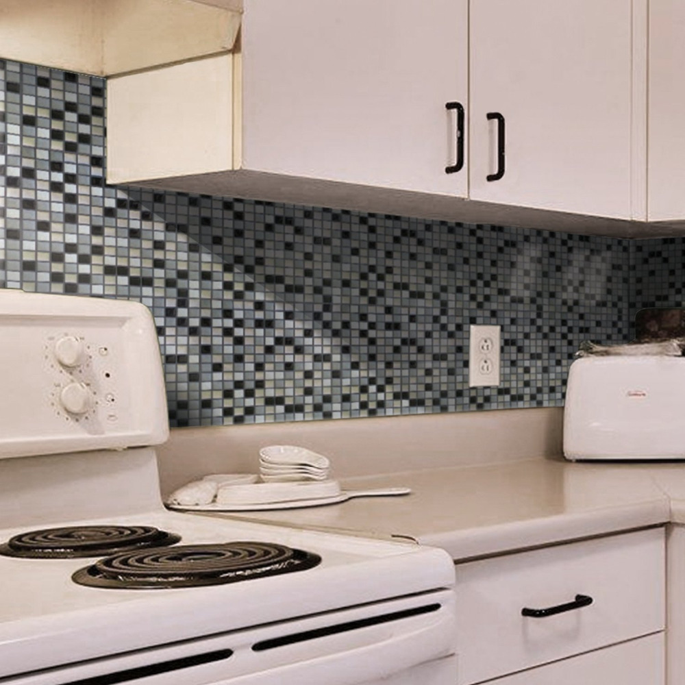 10 X 10 Pared De Vinilo Adhesivo Mosaico de Azulejos