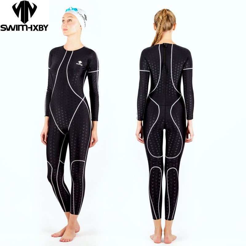 HBXY swimwear women swimsuit female swimming plus size racing suit full body competition swimsuits competitive shark skin swim