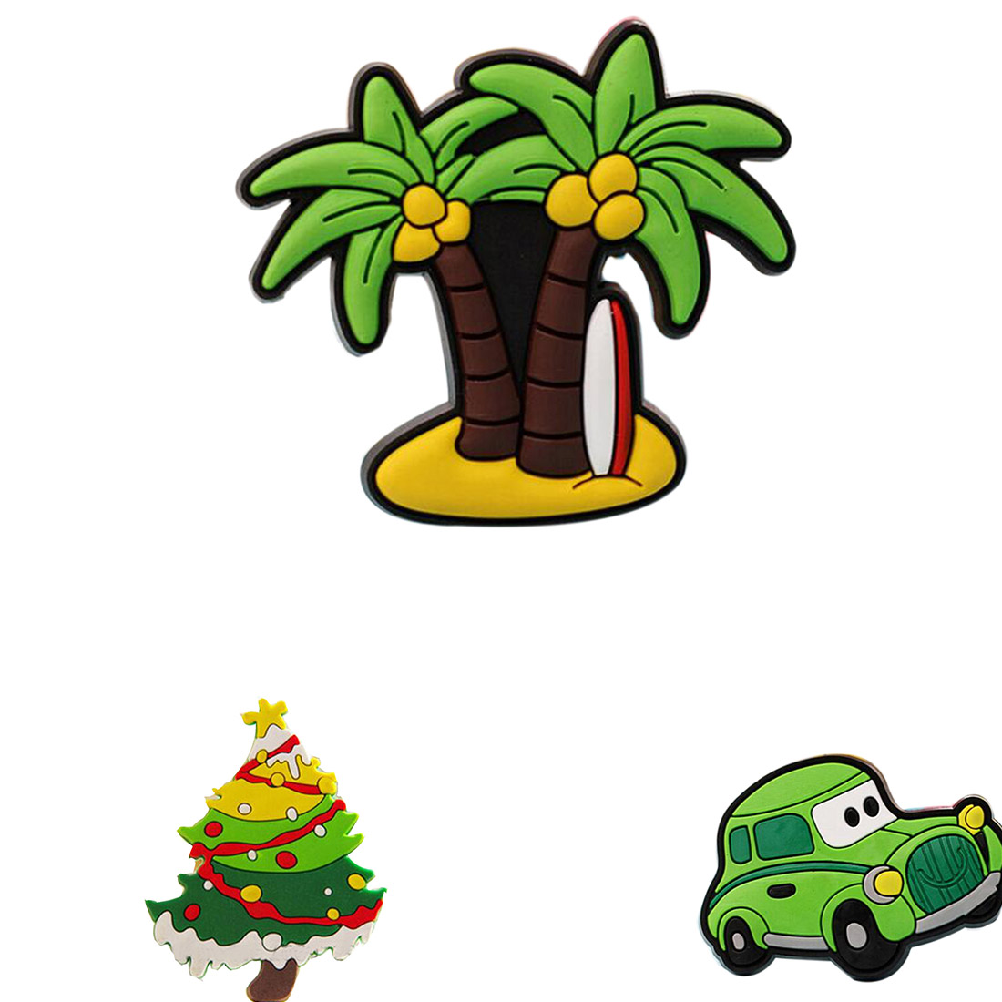 Christmas tree novelty christmas tree china http www gd wholesale com - Creative Car Coconut Palm Christmas Design Fridge Magnets For Kids Small Size Silicon Gel Magnetic Fridge