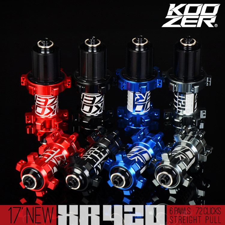 KOOZER XR420 MTB Mountain Bike QR Disc Hubs Front Rear Straight Pull XD Driver Hub 6 Bolt 100*9/15 135*10 142*12mm THRU XD