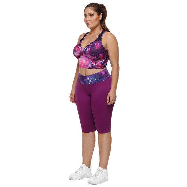 Women's Padded Plus Size Crop Top  L-3XL