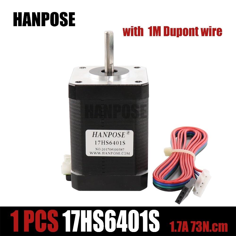 for 3D printer 1pcs nema17 stepper motor 60mm /2-phase hybrid stepper motor (1.7A, 0.73NM, 60mm, 4-wire) stepper motor 17HS6401 annoytools nema24 60hs 2 phase 1 8degrees hybrid stepper motor 4 5v 2 8a 30kg cm 88mm 60hs88 2808 diy cnc machine 3d printer