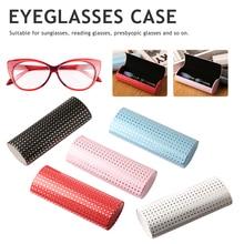 New Portable Oval Hard Case Glasses Package Sunglasses Storage Box Magnetic Closure lente de contato