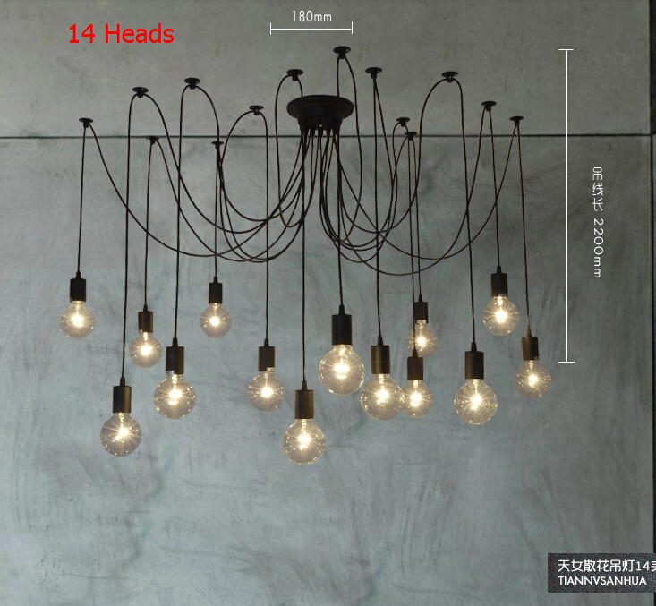Nordico Edison Vintage Pendant Lights Loft American Country Spider lamp Home Decor DIY RH Fixtures110-240V Gifts For New Year коврик для ванной iddis curved lines 50x80 см 402a580i12 page 2