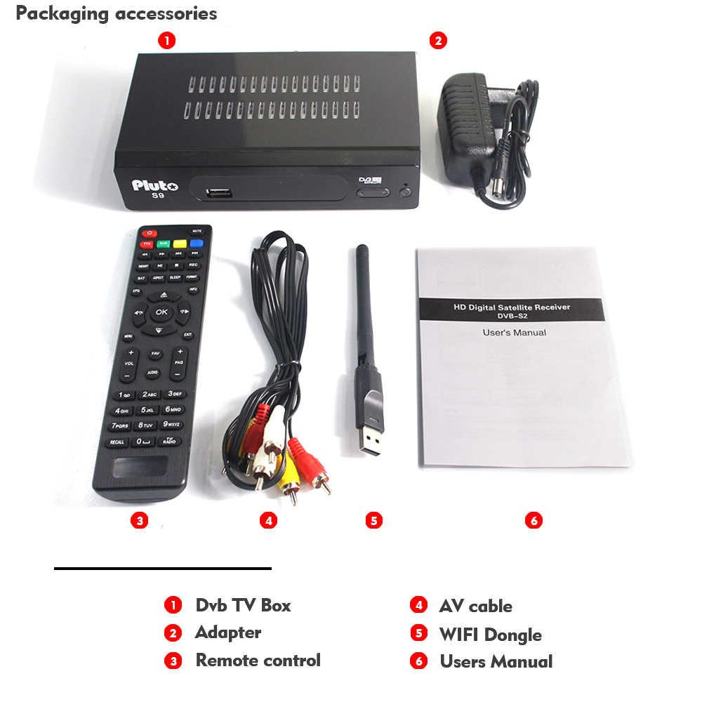 Спутниковый ресивер DVB-S2 с 1 год Европа C-line сервер Cccam 7 линия Full HD 1080 P с USB wifi испанско-португальский Арабский ТВ-бокс