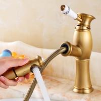 European full copper ceramic handle leading hotel villa luxury residential decorative hose sprinkler faucet